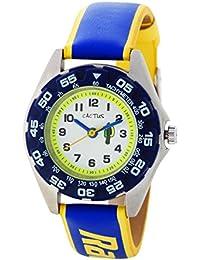 Cactus CAC-72-M04 - Reloj de pulsera niños, Plástico, color Azul