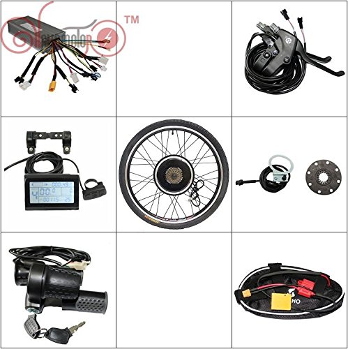 electric motor bike 36V 48V 750W Front or Rear Wheel Electric Bicycle Ebike Conversion Kits New Style with LCD Display (750w Motor)