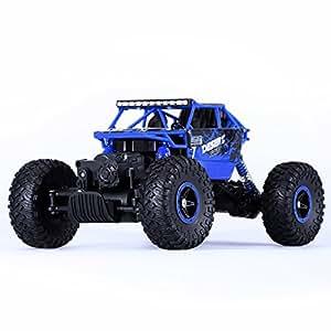 2.4G RC Buggy Macchina, YOKKAO 1: 18 Auto Radiocomandata Fuoristrada Camion con Grandi Pneumatici (Blu)