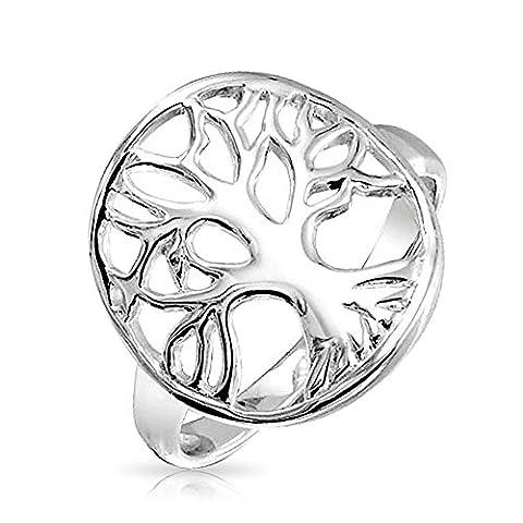 Bling ronde bijoux celtiques Arbre de Vie 925 Argent Sterling Ring