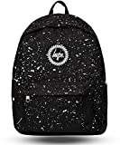 Hype Backpack Rucksack Shoulder Bag - Black with White Speckle - for Boys and Girls, Women and Men - Black White Speckle