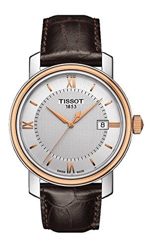 Tissot Herren-Uhren Analog Quarz One Size Leder 86738198