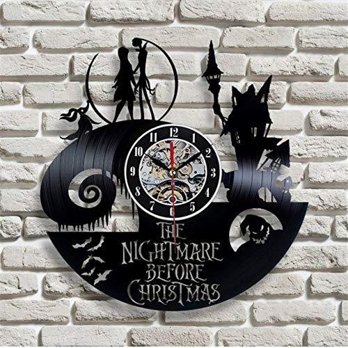 Syhua Nouvel an Et Noël T Design Moderne Noir Disque Vinyle Record Horloge Murale Art Sticker Montre pour La Décoration