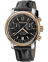 WENGER Herren-Armbanduhr WENGER URBAN VINTAGE CHRONO 01.1043.113 Chronograph Quarz Leder WENGER URBAN VINTAGE CHRONO 01.1043.113