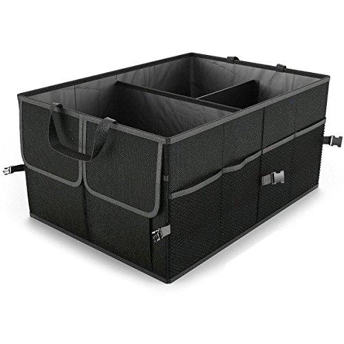 CAMTOA Auto Kofferraumtasche 2-in-1 faltbare Autotasche Aufbewahrung für Auto, SUV, Minivan, Truck & Anwendungen