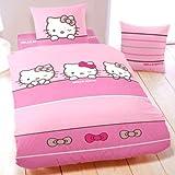 Parure di letto Hello Kitty Sleeping-1copripiumino 1pers 140x 200+ federa. 100% cotone