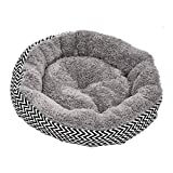 Pet Nest Dog Cat Beds Large Deluxe Soft Scratch-Resistant Warm Cozy Pet Dog Bed With Cushion Basket Washable Round Shape Dimple Fleece Nesting Cave Pets Puppy Sofa House Mat Nest Grey Big Shake Creative Beds Waterproof Newest Breathable Canvas For Cats Do