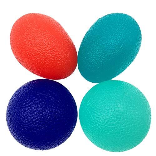 LiteTour Fortalecedor de Agarre Mano y Bolas de Terapia de Manos para el Ejercicio de fortalecimiento de la Mano y Finger Fidgets Squeeze Balls para el Alivio del estrés para la Terapia física