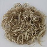 Prettyshop XXXL Haarteil Haargummi Hochsteckfrisuren, VOLUMINÖS, gelockter, unordentlicher Dutt blondmix #28T613 HW11