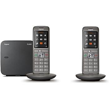 Gigaset CL660 Duo - Téléphone fixe sans fil - 2 combinés - Gris Anthracite 96d23893d465