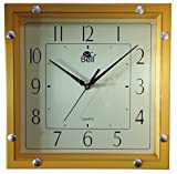 Kotak Sales Positive Feeling Decorative Stylish Square Shape Ivory Color Plastic Wall Clock D1