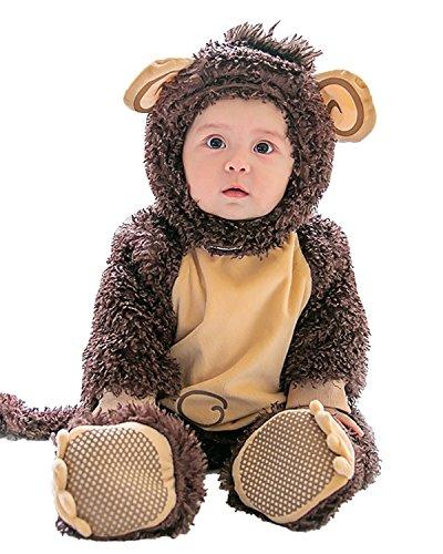 Kidsform Baby Unisex Weihnachten Halloween Langarm Outfits Jumpsuit Playsuit Strampler Winteroverall AFFE 18-24Monate (Halloween 18-24 Kostüm Monate Affe)