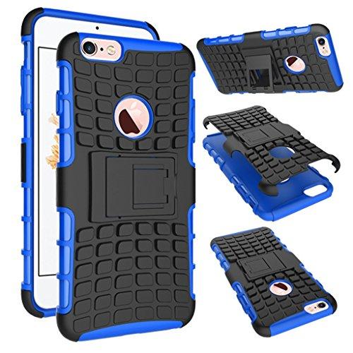 """iphone 6s Plus Coque, MYTH Coque Antichocs Video Béquille ShockProof Protecteur Etui Housse Cover pour iphone 6 Plus /6S Plus 5.5"""" Blanc Bleu"""