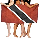 GHEDPO Toallas de Playa baño Trinidad and Tobago Flag Bath Towels Bath Sheet, Beach Hand Turkish Towel, Large Absorbent Wash Cloth Facecloth Towel Set For Bathrooms Hotels/Motels Use (31.551.2inches)