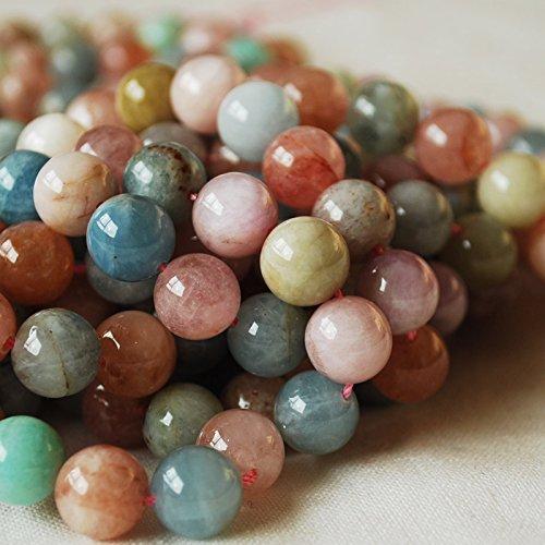 Haute qualité Grade AB Naturel Beryl/morganite (Orange Rose) Pierre précieuse de pierres semi-précieuses Perles rondes–40,6cm Mèche–4, 6, 8, 10mm Tailles, 10mm (39 - 42 beads)