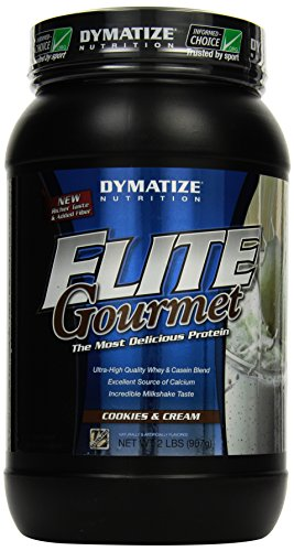 Dymatize Elite Gourmet Whey Protein Cookies and Cream, 1er Pack (1 x 908 g) (Elite Gourmet Dymatize Protein)