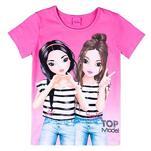 Top Model Mädchen T-Shirt, pink, rosa Größe 140, 10 Jahre