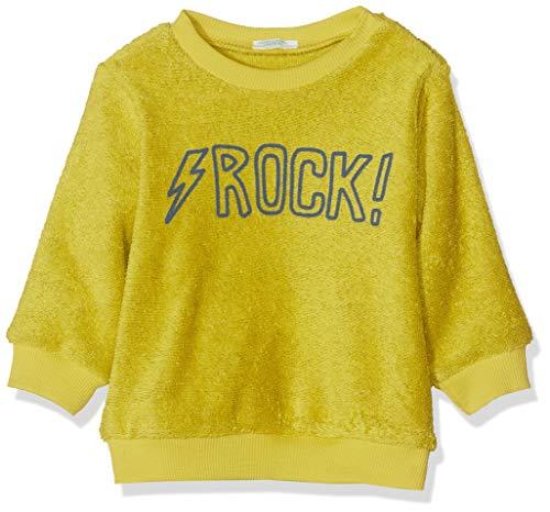 United Colors of Benetton Rock BB B 3 Sudadera, Amarillo (Giallo Acido 159), 56/62 (Talla del Fabricante: 56) para Bebés