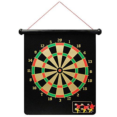 Vetrineinrete® Bersaglio tiro a segno magnetico con 6 freccette calamitate dardi gioco frecce telo doppia faccia A9