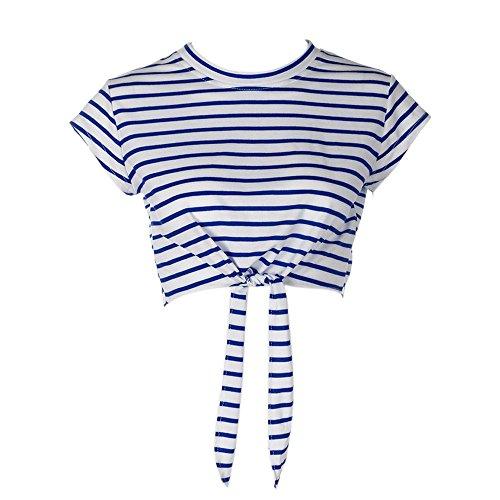 Bluestercool Camicia Donna Estive Senza Maniche Camicie Donna Elegante mini Blusa Sciolto Blu