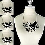 Phonphisai shop Damen Gothic Octopus Anhänger Schlüsselbein Kette Schmuck 10 7 cm