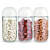 Click Lock Storage Jar Set 3Pc 450Ml