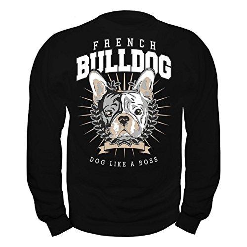 Männer und Herren Pullover French Bulldog BOSS Schwarz