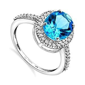 Miore - JM038R4WM - Bague Femme - Or blanc 375/1000 (9 carats) 2.1 gr - Diamants 0.15 cts - T 52