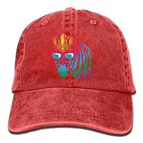 Cool Zebra Sunglasses Denim Hat Adjustable Men's Classic Baseball Hat ABCDE08580