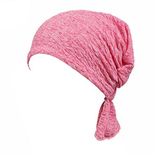 Eillybird Damen Elegante Schnee Spinnen Weich Chemo Turban Mütze Kopftuch für Chemotherapie,Krebs,Haarverlust (Glatze-mütze)