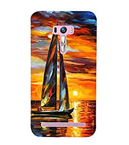 Asus Zenfone Selfie ZD551KL boat Printed Cell Phone Cases, colourful Mobile Phone Cases ( Cell Phone Accessories ), sky Designer Art Pouch Pouches Covers, sunset Customized Cases & Covers, ocean Smart Phone Covers , Phone Back Case Covers By Cover Dunia