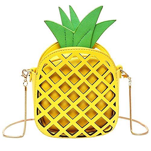 NEEDOON Damen Ananas-Shape Cross Body Clutch Tasche Taschen für Mädchen Frauen (Rucksack Volcom Leichter)