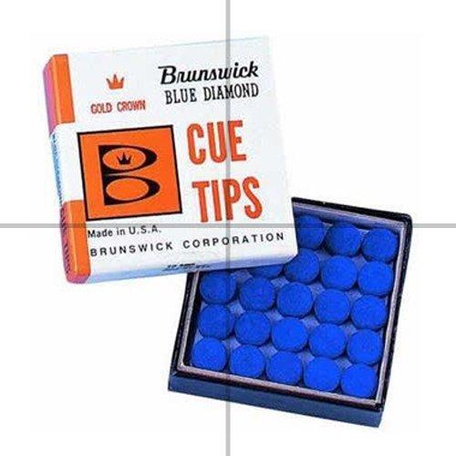 Brunswick Blue Diamond Billardqueue-Spitzen, zum Aufkleben, 13mm, 5 Stück
