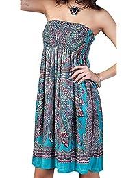 Angerella Boho Vintage Floral Beach Dress Traje de Baño Cubre Ups
