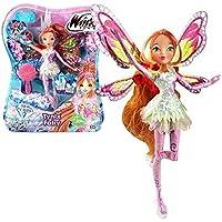 002bd237fe Winx Club - Tynix Fairy - Flora Bambola 28cm con magique Robe