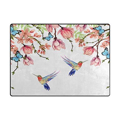 Orediy - Alfombras de Verano con diseño de pájaro y Flores, de Espuma Ligera para Jugar a los niños...