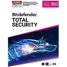 Bitdefender Total Security Multi Device 2019 - Inkl. VPN - 1 Jahr / 5 Geräte für Multi Plattform (PC, Mac, Android und iOS)