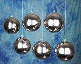 Christbaumkugeln Edelstahl poliert 6 Stück Durchmesser 13 cm