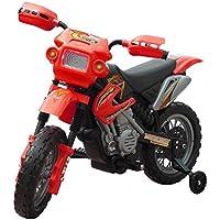 Festnight Motobicicleta Eléctrica para Niños 102 x 53 x 66 cm Rojo