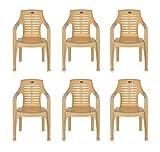 #9: Nilkamal Set of 6 Chairs (Marble Beige)