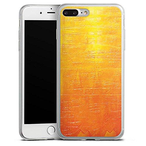 Apple iPhone 8 Slim Case Silikon Hülle Schutzhülle Kratzer Struktur Malerei Silikon Slim Case transparent