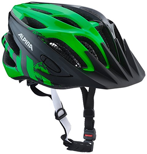 ALPINA Kinder Firebird Jr. 2.0 Fahrradhelm, Black-Green, 51-55