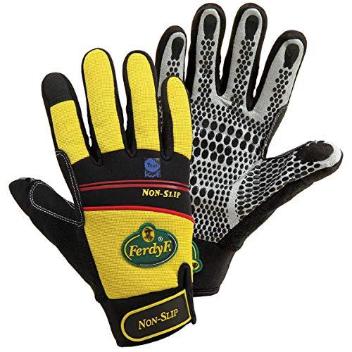 FerdyF Clarino®-Kunstleder Montagehandschuh Größe (Handschuhe): 9, L EN 388 Cat II Mechanics Non
