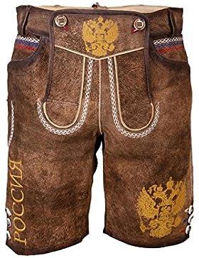 Krüger - Herren Lederhose , Braun, Lederhose Russland (Artikelnummer: 94639-7)