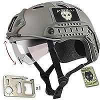 Ejército estilo militar SWAT combate PJ casco Fast FG follaje de color verde con gafas para tiro CQB para Paintball
