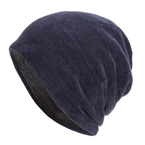 Zimuuy Unisex Cord Kappe Hedging Head Hat Beanie Mützen Warme Outdoor Strickmützen (Marine)