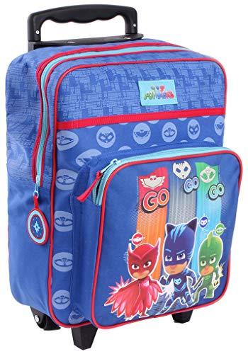 Bagages (Sacs, cartables, Trousses,Parapluie.) Pyjamasques, PJ Masks Fantaisie (Sac à Dos Roulette PJ Mask 610-8926, 35 * 28 * 12cm)