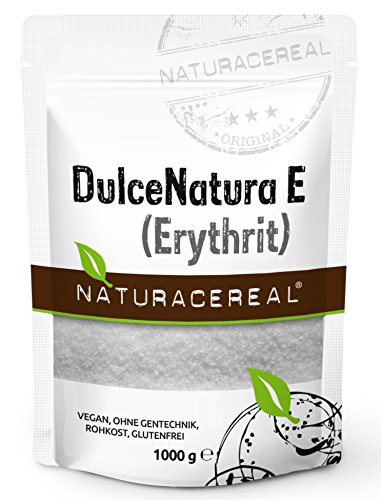 Erythritol - 1 kg - NATURACEREAL - DulceNatura E (Erythritol) - completely calorie-free - suitable for diabetics