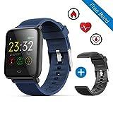 """leegoal Waterproof Fitness Tracker Watch, Q9 1.3"""" Color Touch Screen Smart Bracelet"""