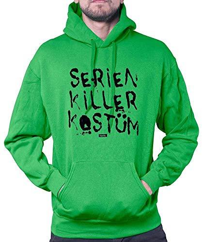 HARIZ Herren Hoodie Serien Killer Kostüm Karneval Kostüm Plus Geschenkkarte Grün ()